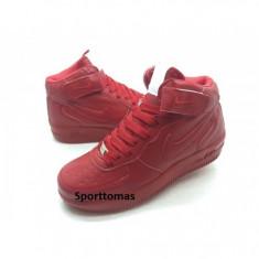Ghete barbati - Ghete Nike air force one model casual rosu