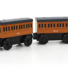 Trenulet de jucarie Fisher Price, 2-4 ani, Lemn, Unisex - Vagoanele Annie si Clarabel, Thomas si prietenii sai