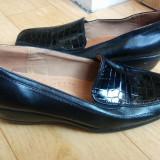 Pantofi din piele firma VALTINELLIS marimea 39, sunt noi! - Pantof dama, Culoare: Negru, Piele naturala