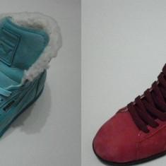 Adidasi dama - Ghete imblanite din piele Puma First Round - LICHIDARE DE STOC