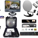 Sistem complet satelit - Focus SAT Camion, Camping, Rulota- televizor+receptor12 v+card focus 30zile