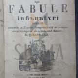 Carte de colectie - D. TIKINDEAL ( TICHINDEAL ) - FILOSOFICE SI POLITICE PRIN FABULE INVATATURI MORALE 1838 !