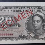 Romania 20 lei 1950 Specimen Rara