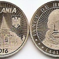Monede Romania, An: 2016 - Romania 50 bani 2016 - Iancu de Hunedoara, KM-New UNC !!!