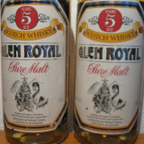 2 sticle whisky, glen royal 5 years, pure malt, cl 70 gr 40 ani 70