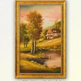 Oaza de liniste (2) - pictura peisaj din natura, ulei pe panza 37x57cm cu rama - Pictor roman, An: 2016, Peisaje, Altul