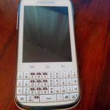 Telefon Samsung, Alb, 4GB, Neblocat, Single SIM, Single core - Samsung Galaxy Chat B5330 plus GARANTIE