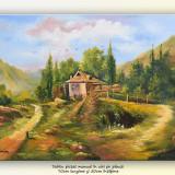 La căsuța de la munte (2) - pictura ulei pe panza 70x50cm - Pictor roman, An: 2016, Peisaje, Altul