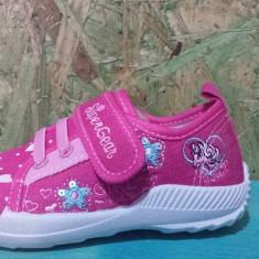 Tenisi copii, Baieti - Tenisi de fete, marca Super G, culoare roz cu floricele, marimi de la 26 la 31