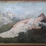 Pictura in ulei pe carton * Dimensiuni 46 x 71 cm - Pictor roman, Portrete, Altul