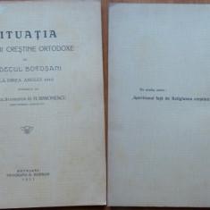 Carte Editie princeps - Situatia bisericii ortodoxe din Judetul Botosani la finea anului 1910, 1911