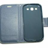 Husa Telefon - Husa Samsung Galaxy S3 i9300 - Fancy - piele ECO - culoare Lime-Albastru