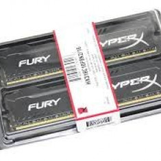 Memorii dual Kingston HyperX Fury Black Series DDR3, 2x4GB, 1600 MHz, sigilate - Memorie RAM Kingston, 8 GB, Dual channel