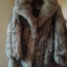 Palton dama - Haina de blana de vulpe argintie