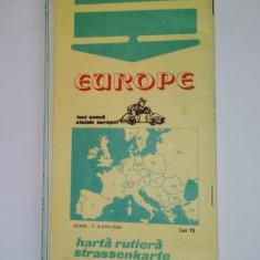 Europa Harta rutiera - 1983 Ed. Sport Turism A. Barsan