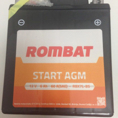 Baterie moto, scuter, atv Rombat 12V - 6Ah 60A, AGM Gel RBX7L-BS