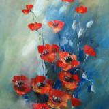 Tablou ulei- MACI, Flori, Impresionism