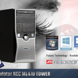 Calculator NEC ML470 TOWER Procesor E8400 4GB RAM HDD 160 GB Placa Video 1 GB - Sisteme desktop fara monitor, Intel Core 2 Duo, 2501-3000Mhz, 100-199 GB, LGA775