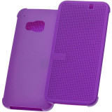 Husa HTC One M9 3 Dot View Purple Mov Flip Carcasa Toc Smart Hard Case - Husa Telefon