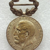 Medalii Romania, An: 1923 - MEDALIE FERDINAND-RASPLATA MUNCII PENTRU CONSTRUCTIUNI SCOLARE-CLS II