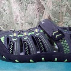 Sandale pentru baieti, cu varf din cauciuc, gri cu verde 30.31.33 - Sandale copii