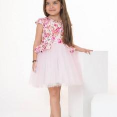 Rochie fete Flori si Veselie (Culoare: multicolor, Imbracaminte pentru varsta: 12 ani - 152 cm)