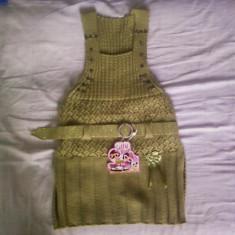 Sarafan verde tricotat cu fir lurex, Marime: Alta