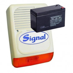 KIT SIRENA DE EXTERIOR SI ACUMULATOR 7AH/12V PS128 KIT - Sisteme de alarma