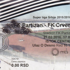 Bilet meci fotbal FK PARTIZAN BELGRAD - STEAUA ROSIE BELGRAD 27.02.2016