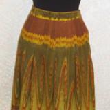 Fusta Zara din catifea reaiata,  marimea 40