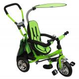 Tricicleta copii Baby Mix - Tricicleta Cu Sezut Reversibil Safari Break 360° Green