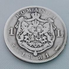 Monede Romania, An: 1881, Argint - 1 LEU 1881 ARGINT