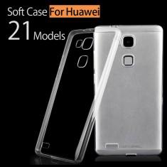 Husa Telefon Huawei, Transparent, Silicon, Cu clapeta, Husa - Husa HUAWEI ASCEND G8 silicon subtire transparenta 2016