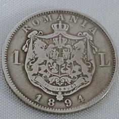 Monede Romania, An: 1894, Argint - 1 LEU 1894 ARGINT