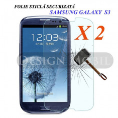 2X FOLIE STICLA SAMSUNG GALAXY S3 I9300 NEO I9301 TEMPERED GLASS (2 BUC) - Folie de protectie
