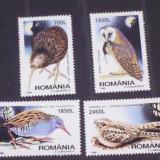Timbre Romania, Nestampilat - Romania 1998-LP 1458-Pasari de noapte, nestampilate.