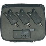 Avertizor pescuit, Electronice - Set Avertizor Jaxon Cu Centrala Xtr Sensitive 3 Posturi