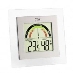 Higrometru cu termometru digital TFA Glam