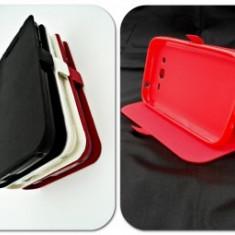 Husa Telefon - Toc FlipCover Stand Magnet HTC One M9 Rosu