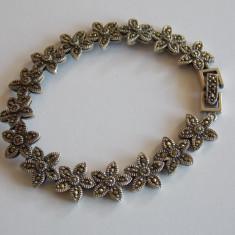 Bratara argint - Bratara de argint cu marcasite