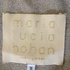 Rochie MARIA LUCIA HOHAN - Rochie de club, Culoare: Argintiu, Marime: 36, Scurta, Fara maneca, Acril