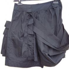 Fusta-pantalon asimetric Alexander Mcqueen 100%originali - Pantaloni dama Alexander Mcqueen, Marime: M/L, Culoare: Negru, Scurti, Bumbac