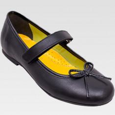 Pantofi negri, din piele, pentru fete - Pantofi copii, Culoare: Negru, Marime: 29, 30, 31, 32, 33, 34, 35, 36, Piele naturala