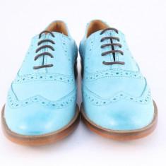Candrani Oxford Gordon Turquoise - Pantofi barbati