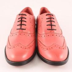 Candrani Oxford Gordon Rosu - Pantofi barbati