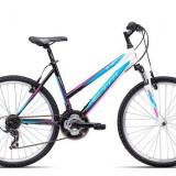 "Bicicleta dama CTM Stefi 2.0, 2016, cadru 16"", negru / albastru Cod Produs: 037.51"