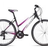 "Bicicleta dama CTM Maxima 2.0, 2016, cadru 18"", negru mat / roz Cod Produs: 037.89"
