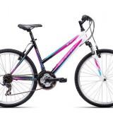 """Bicicleta dama CTM Stefi 2.0, 2016, cadru 18"""", negru / mov Cod Produs: 037.53"""