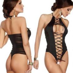 Lenjerie Lady Lust Sexy 309 Transparent Mesh Rochie Babydoll Open Crotch - Lenjerie sexy femei