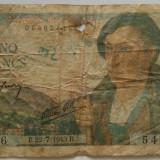 Statul Francez - 5 Francs 22-07-1943 - bancnota europa